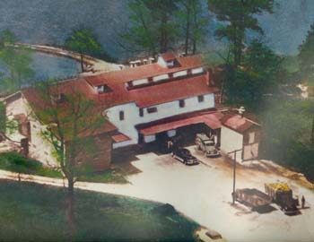 Aerial view of Cross Mill in the past